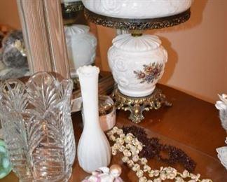 Crystal and vintage vase