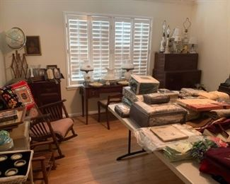 Antique furniture linens