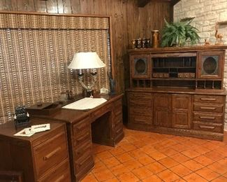 Cleo's Desk, Credenza and filing cabinet