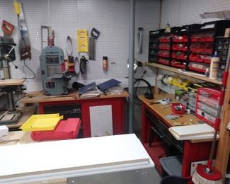 One corner of the tool room...