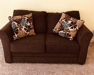 Loveseat with pillows $100