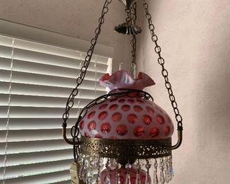 FENTON COIN DOT SWAG LAMP