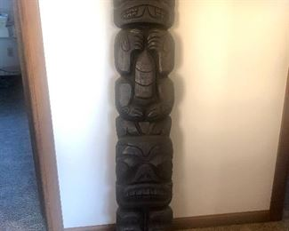 Wolf and Bear Totem Plaque. Made by Abner Johnson, Tlingit Raven Clan Indian Carver.