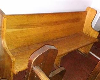 Blonde Oak Church Pew or Bench. About 6 feet long. about 7 to choose from.
