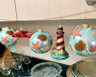 Large selection of new Christmas ornaments