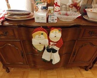 Christmas Decor  Dining Room Buffet