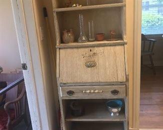Antique secretary desk, bookshelf