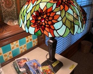 Lighted Tiffany style lamp