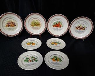 8 Gien France Les Gastronomiques De La Sante Plates