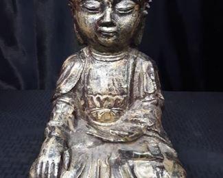 Sitting metal Buddha