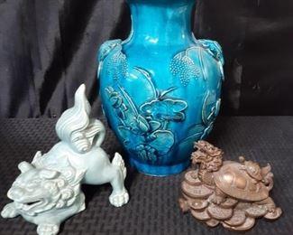 Blue Brass Asian Decor