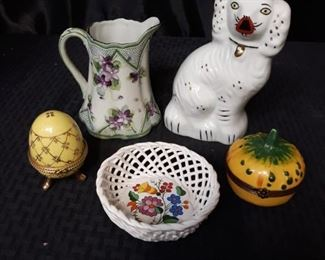 Limoges France trinket box and other home decor