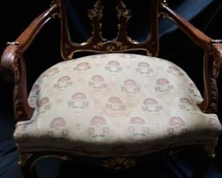 Ornate vintage or antique chair