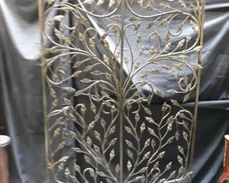 Outdoor wrought iron screen. Heavy, well forged screen.