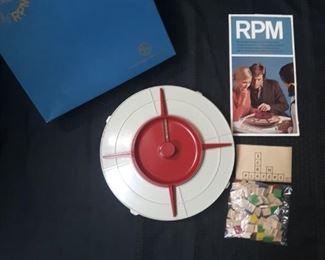 Vintage 1971 RPM game