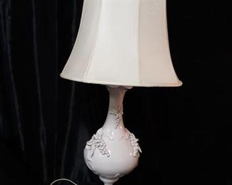 Vintage white porcelain lamp