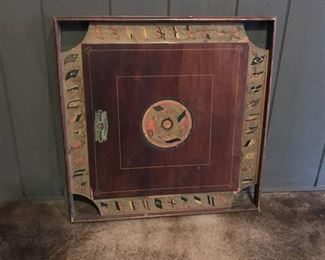 Two sided Antique wood gaming board