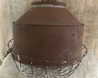 Rustic upcycled hanging farmhouse light (works good)