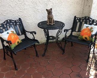 Black Iron outdoor Furniture