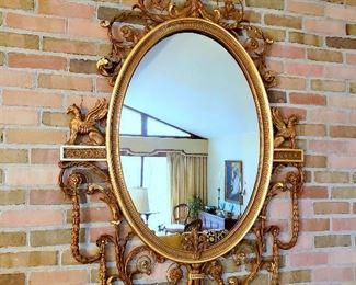 #13 - Adams Style Oval Gilt Mirror