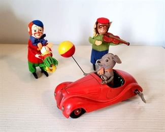 #42 - Schuco German Wind-Up Toys - Lot of 3