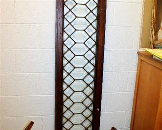 #54 - Antique Leaded Glass Window