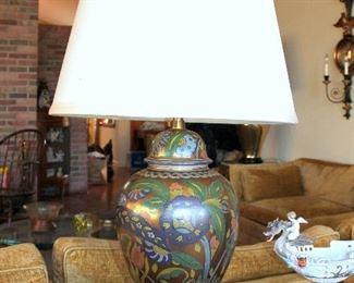 #60 - Vintage Marbro Ceramic Ginger Jar Lamp