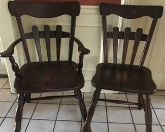 Set of Wood Chairs