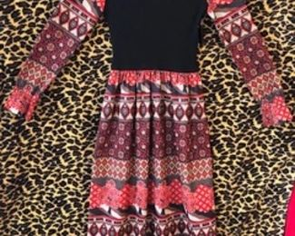1970s MAXI dress with beautiful print