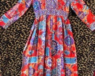 Exotic Maxi Print Dress