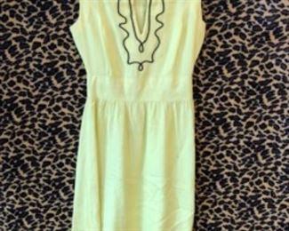 Linen 1960S dress with soutache