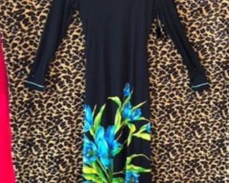 Beautiful Black Maxi with Giant Colorful Print