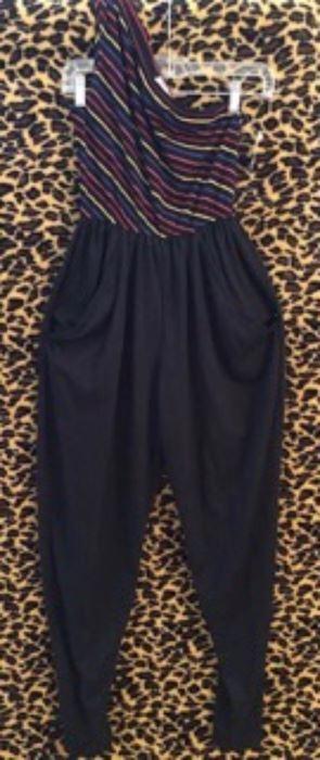 One Shoulder Vintage Jersey Jumpsuit