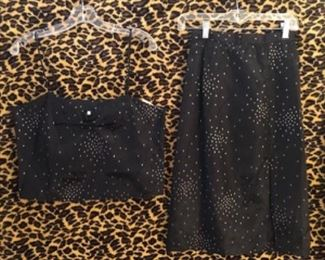 Fredricks of Hollywood 2 pc Cami top and wiggle skirt