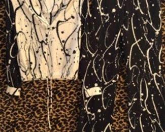 Jackson Pollock nspired 2 pc vintage set 1970s