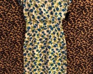 Silk 50s wiggle dress