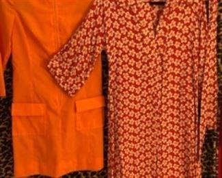 Orange Mod girls Dream and '70s cotton print midi