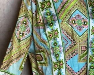 Silk 60s Maxi with attached jacket