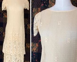 1920S handmade lace dress