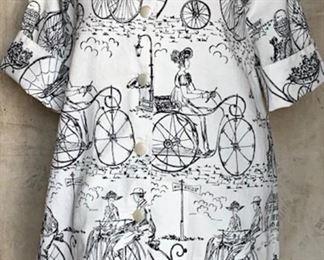 1960s Bicycle Print Top