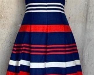 Amazing 1960s Linen Pom Pom dress
