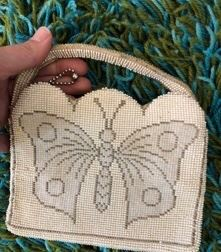Beaded Vintage Butterfly Bag