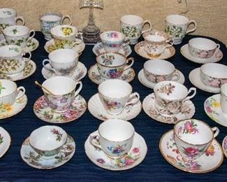 Variety of Tea Cup Sets, including English Bone China