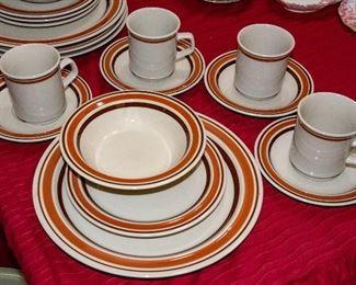 Set of Stoneware dinnerware