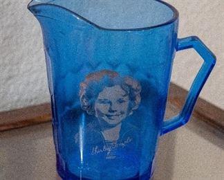 Shirley Temple Cobalt Creamer