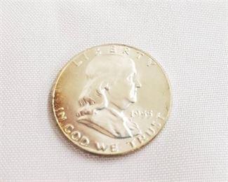 1955 Franklin Half Dollar Liberty Bell - No mint mark