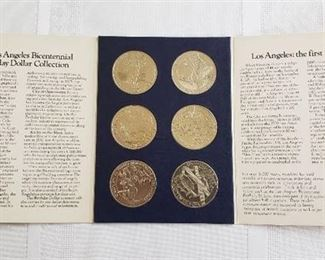 Los Angeles Bicentennial Birthday Dollar Collection in Special Souvenir Package - each Medallion - 1 1/2 in. diameter