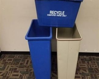 Lot of 3 Recycle Bins