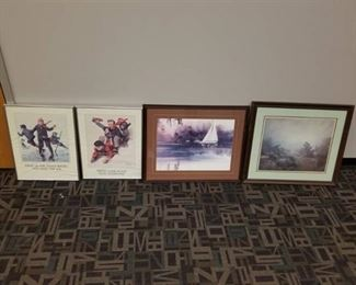 Lot of 4 Framed Prints
