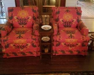 Pair of designer club chairs